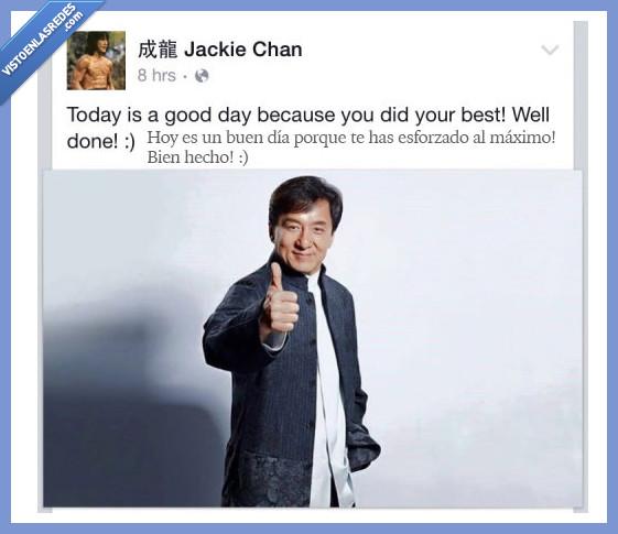 420472 - Jackie Chan te anima mejor que tu mejor amigo y lo sabes