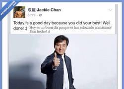 Enlace a Jackie Chan te anima mejor que tu mejor amigo y lo sabes