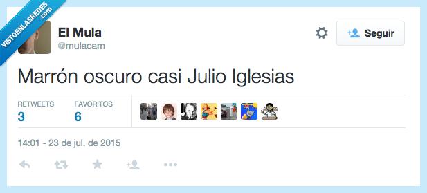 casi,Julio Iglesias,marron,moreno,negro,oscuro,tanorexia total