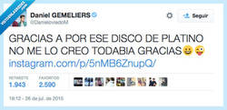 Enlace a Los gemeliers ya tienen un disco de platino pero TODABIA no saben ortografía por @danieloviedom