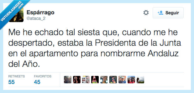 Andalucia,Andaluz,año,apartamento,cama,despertar,echado,echar,Junta,Presidenta,siesta,tal