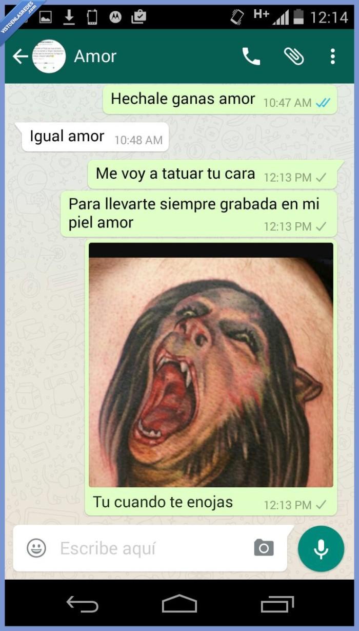 amor,cara,enfadar,enojar,tatuaje,tatuar