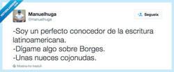 Enlace a Soy un experto en Borges, por @manuelhuga