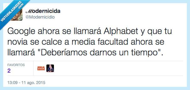 alphabet,facultad,google,modernicidio,novia,tiempo