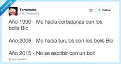 Enlace a Ni bic naranja ni bic cristal, por @El_Terremotillo
