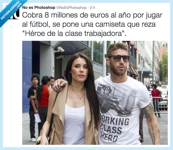 año,clase,futbol,futbolista,heroe,Pilar Rubio,Sergio Ramos,trabajadora,working class hero