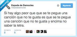 Enlace a La misma frase, una y otra vez por @espadadamocles