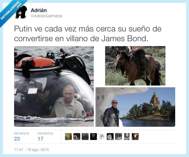 enemigo,James Bond,malo,Putin,Sueño,Villano