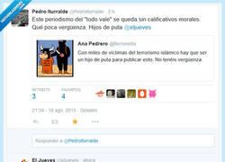 Enlace a Los chicos de @eljueves su respuesta a @pedroiturralde