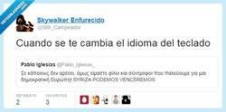 Enlace a Oye, @Pablo_Iglesias_ ¿cómo te has puesto esa fuente tan molona? por @Sith_Campeador