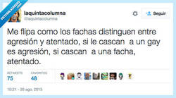 Enlace a Aquí depende de quién reciba los palos por @laquintacolumna