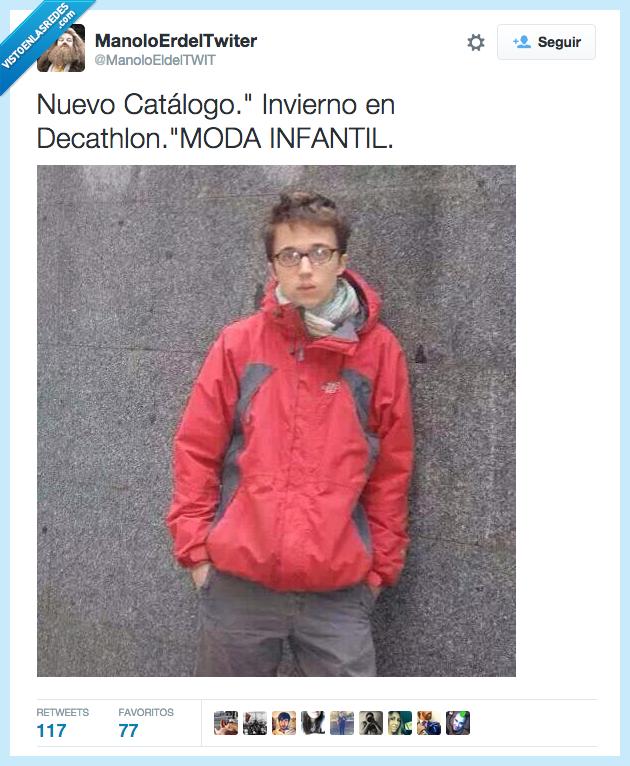 decathlon,Errejon,infantil,invierno,juvenil,moda,niño,Podemos,the north face