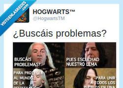 Enlace a ¿Buscáis problemas? Por @HogwartsTM