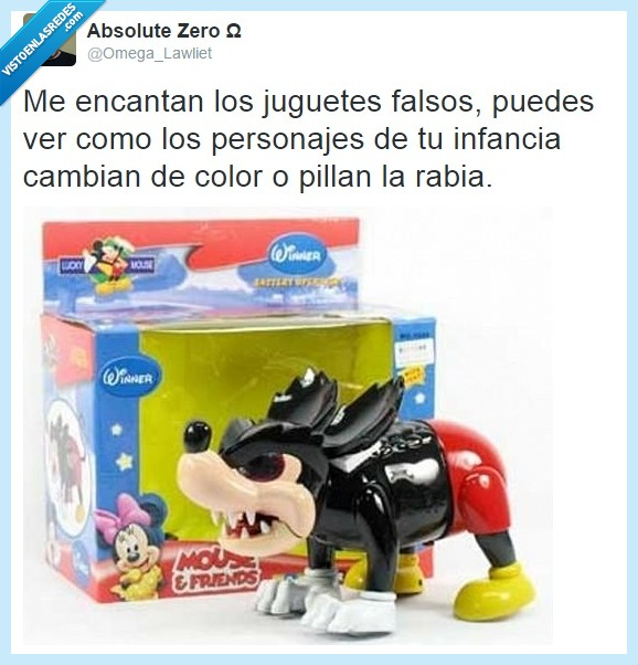 cabreado,falso,juguete,Mickey Mouse,rabia