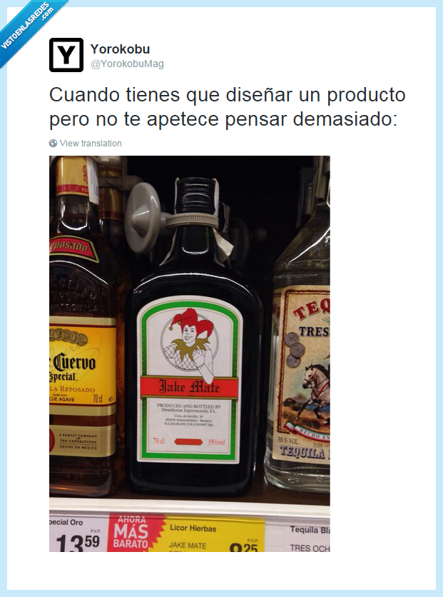 Botella,Copia,Hierbas,Jagermeister,Jake Mate,Licor,Plagio