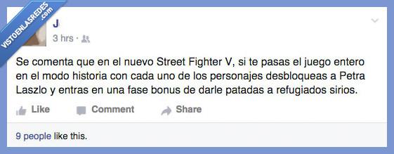 patada,Petra Laszlo,refugiado,sirio,Street Fighter V,tirar,zancadilla