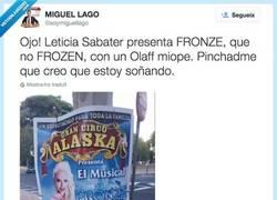 Enlace a Leticia Sabater actuará en un musical llamado Fronze. Sin palabras, por @soymiguellago