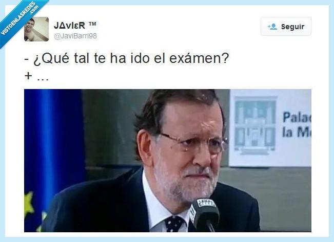 cara,dolor,españa,europa,Examen,LOL,Rajoy,sufrimiento,Suspender,Twitter
