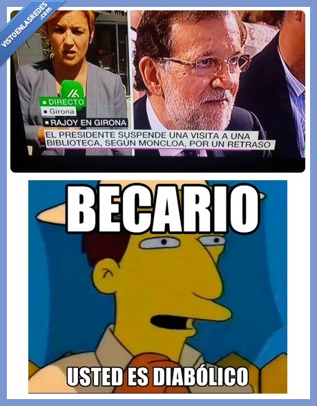 becario,biblioteca,diabolico,noticias,rajoy,retraso,titular