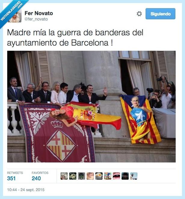 balcón,bandera,Cataluña,España,estelada,independentismo,independentista,mercè