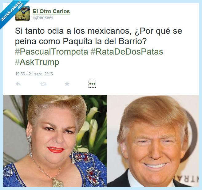 Donald Trump,EEUU,Mexico,Paquita la del Barrio,peinado,pelo,presidencia,presidente