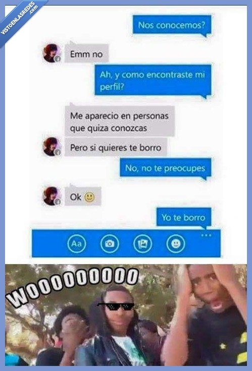 agregar,borrar,borro,Conversación,cortar,Facebook,Turn down for what,yo