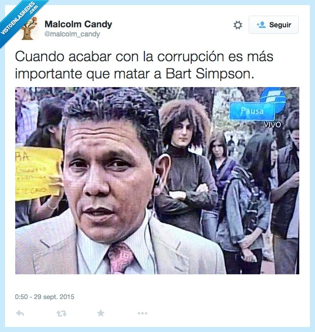 Actor Secundario Bob,Bart Simpson,corrupción,matar