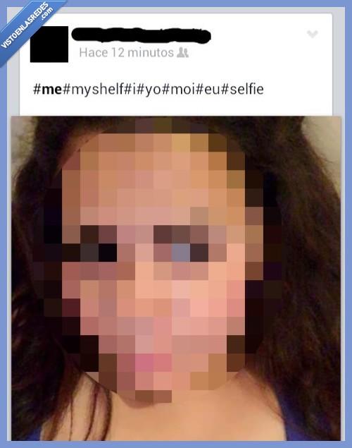estantería,hashtag,inglés,myself,selfie