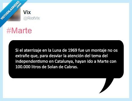 agua,aterrizaje,Cataluña,Catalunya,independentismo,Luna,Marte