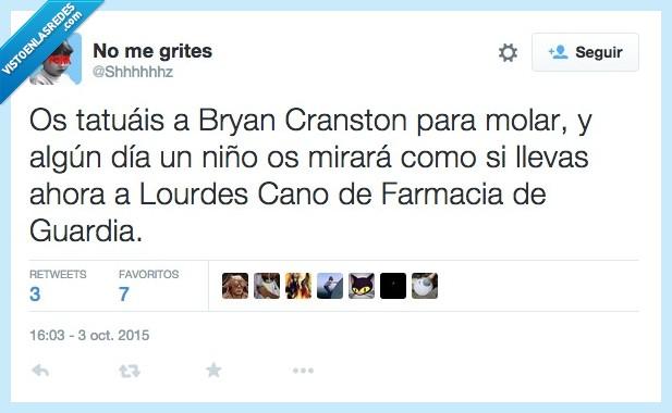Breaking Bad,Bryan Cranston,Farmacia de guardia,Lourdes Cano,molar,tatuais,tatuar,Walter White