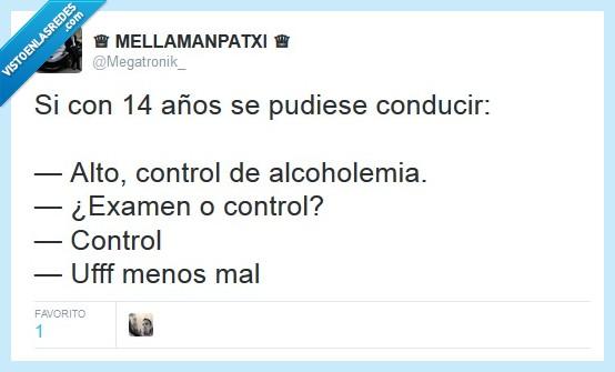 alcoholemia,coche,control,dificil,examen