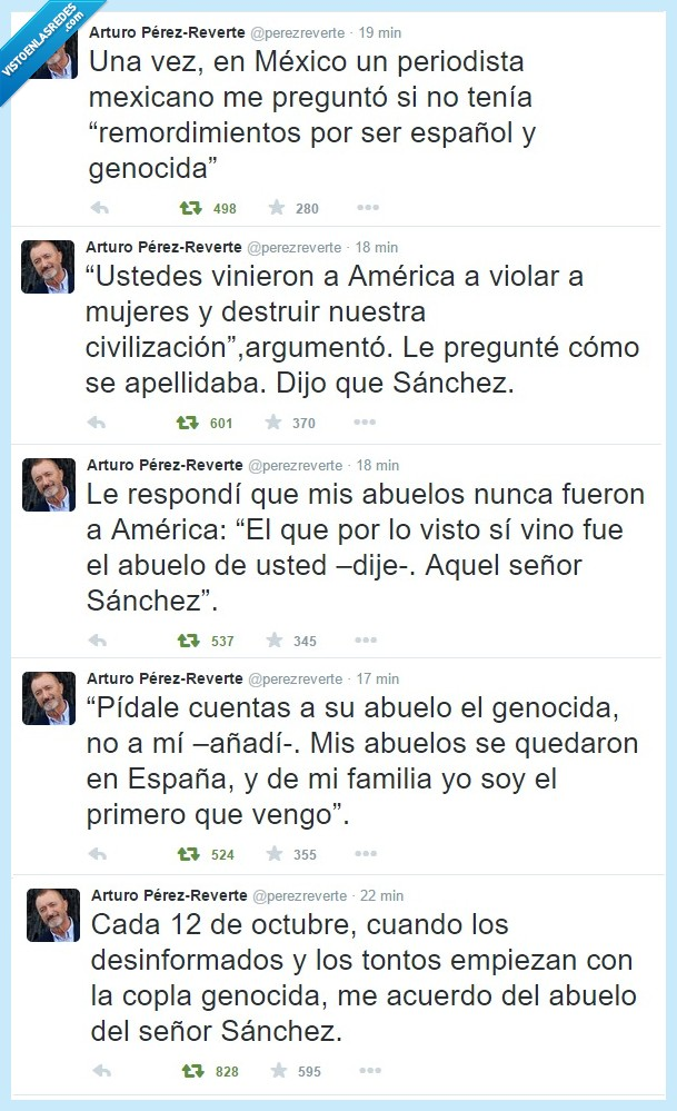 América,Arturo Pérez-Reverte,Conquista de América,Conquistadores,España,Latinoamérica,¿Quien es el genocida?