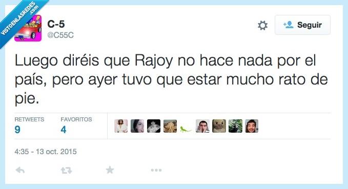 ayer,de pie,desfile,día de la hispanidad,hacer,nada,país,presidente,Rajoy,rato