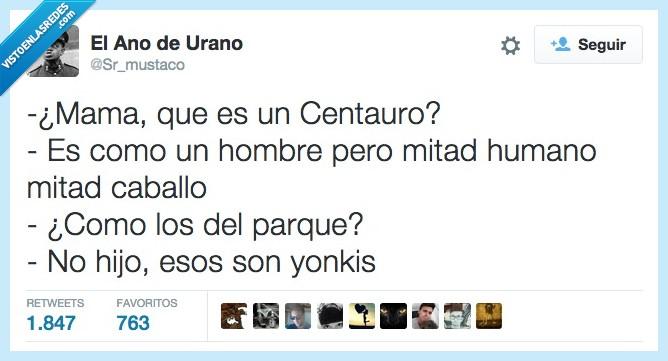 caballo,centauro,hombre,humano,mama,mitad,parque