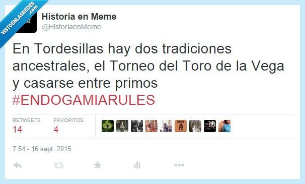 ancestrales,casarse,endogamia,primos,Tordesillas,toro,Toro de la vega,tradiciones