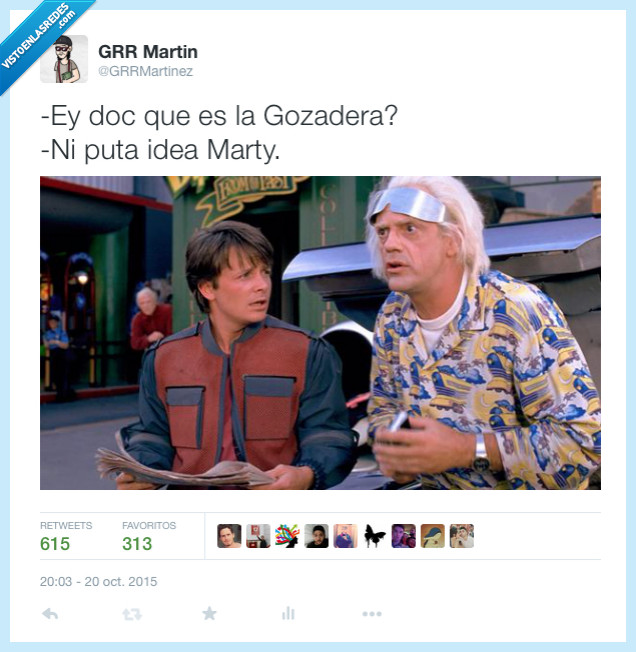 2015,doc,Gozadera,La Gozadera,Marty,qué es eso,regreso al futuro