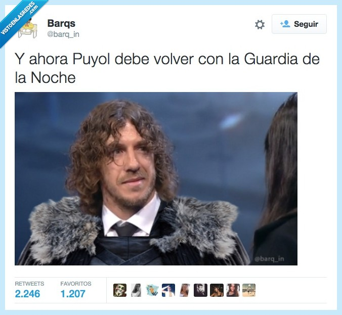 game of thrones,Guardia de la noche,Jon Nieve,Jon Snow,Juego de tronos,Night's watch,Puyol,volver