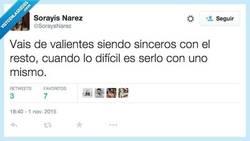 Enlace a Seamos sinceros, pero de verdad por @SorayaNarez
