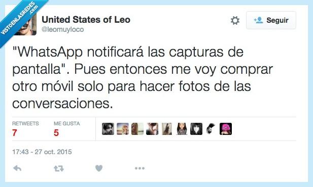 captura,comprar,conversación,foto,hacer,movil,notificar,otro,pantalla,Whatsapp