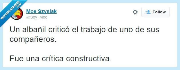 Albañil,Construcción,Crítica,Trabajo