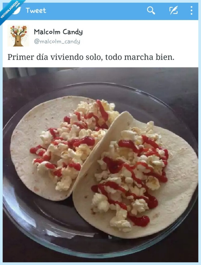 independencia,ketchup,palomitas,solo,solteria,tortilla,Tortita