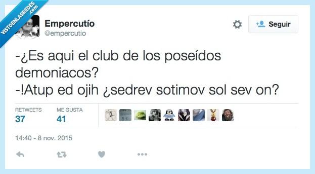 club,demoniaco,demonio,girada,letras,orden,poseido,reves
