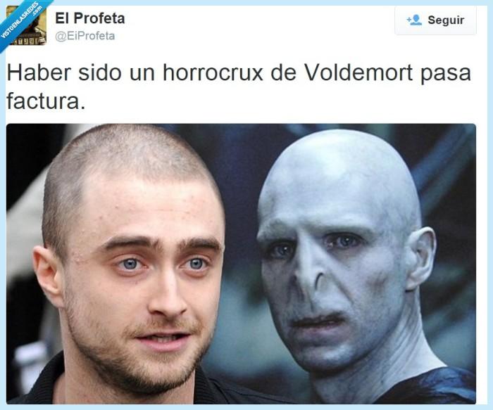 Daniel Radcliffe,Harry Potter,horrocrux,JK Rowling,Voldemort