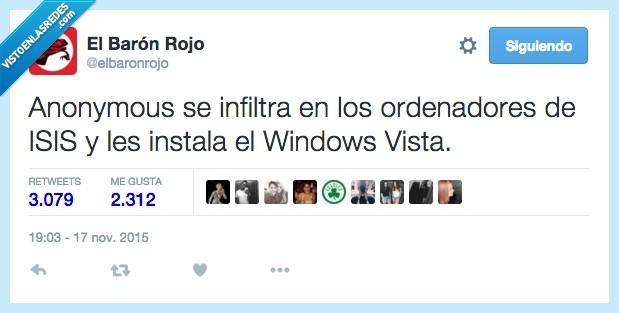 anonymous,infultra,instala,instalar,ISIS,ordenador,Windows Vista