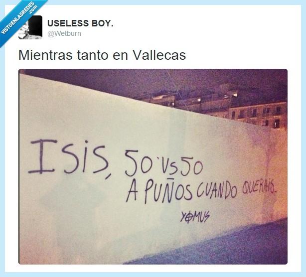 isis,pelea,puños,querais,querer,terrorismo,terroristas,vallecas