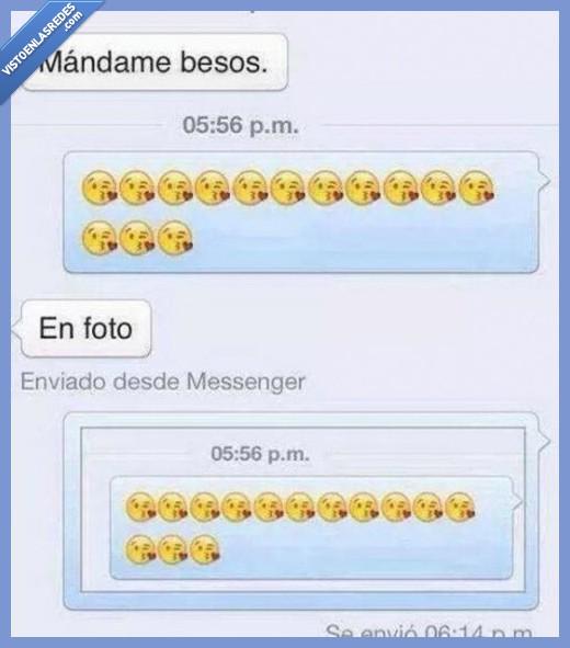 besos,captura,chat,emojis,foto,whatsapp