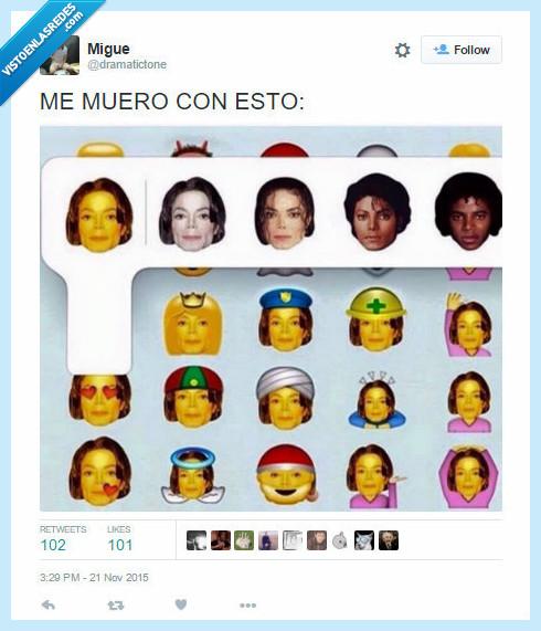 color,elegir,emojis,emoticonos,Michael JAckson,piel,raza,smileys