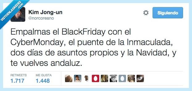 andalucía,andaluz,asuntos propios,Black Friday,Cyber monday,empalmar,empalmas,inmaculada,navidad,puente,vacaciones