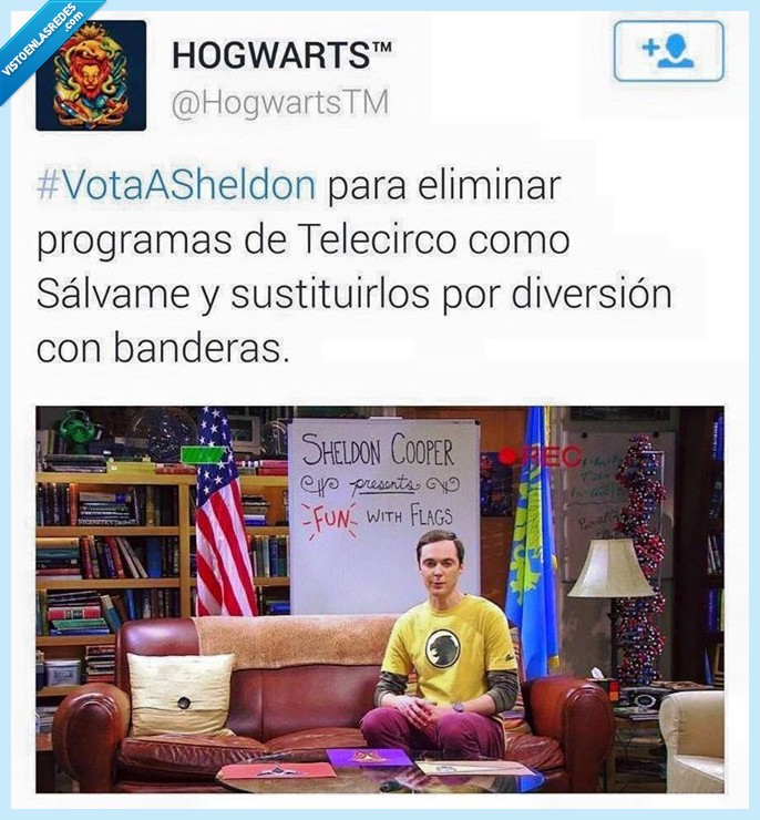 banderas,big bang,cooper,diversion,salvame,sheldon,telecinco