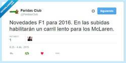 Enlace a Novedades F1 para 2016 por @paridasclub